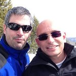 Anthony Melchiorri, host of the Travel Channel's Hotel Impossible, with social media expert Joel
