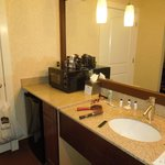 Sink area in mini suite