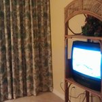 TV & Curtain to Balcony
