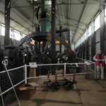 Vertical compound steam engine in main rolling mill