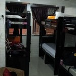 my 6 bunk bed single room.