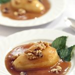 Baked Butterscotch Pears for Breakfast
