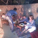 A great meal around a fire pit, very comfortable & charismatic