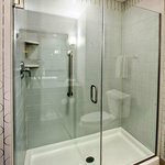 Upgraded stall shower in all King Executive Rooms