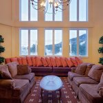  Relax to beautiful mountain views in the lobby area