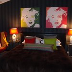  The bedroom in the Pop Art suite - fab!