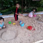 White Sandbox For Kids To Play