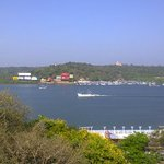 Mandovi River from the Panji Residency balcony.