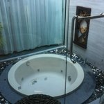 jacuzzi in the family suite