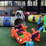 The undercover play area near reception