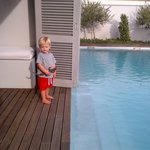 Our little boy on terrace
