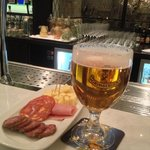 Beer and bar snacks (Sandton Club Lounge)