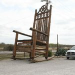 World's largest rocking chair in the parking lot