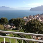View from the terrace of the bay of Naples