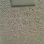  Dirt on the wall under the light switch