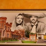  Picture on one wall of the restaurant (from the mexican movie)