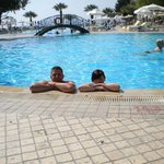  me and daughter  in pool