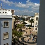 view of the square from room 304