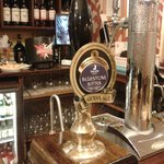  Real ale on offer in the bar