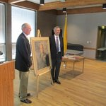 Unveiling the portrait of Gen Groves (April 5, 2013)
