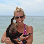  Roatan beach monkey!