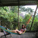 Relaxing in a hammock outside our room