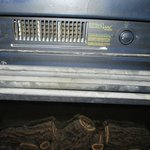 The fireplace controls---very old and super dusty!