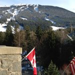 View of Blackcomb Mountain from our hotel suite