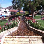 Beautiful gardens and fountains