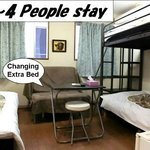  twin room for 2-4 people