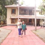 Suellen and Deb outside Casa Eva Luna