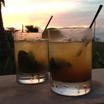 mojitos at sunset