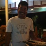  The owner of Blue Lotus is a great cook and fisherman! Today we had fresh fish of the BBQ. :)