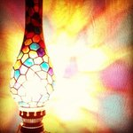 beautiful lamp at Al Nafoura