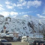  The view from the front of the hotel. The lift station is just beyond the church.