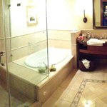 spacious bathroom large 1 person tub