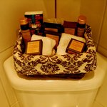  The complimentary toiletries.