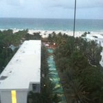 View of pool and beach from the room.