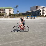 Biking on the beach