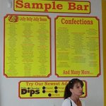 selection avaliable at sample bar