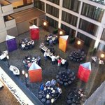The courtyard conference area as seen from the 6th floor