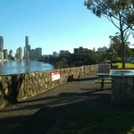Early morning barbeques on River Terrace, Kangaroo Point Cliffs