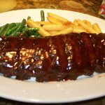 Ribs & Fries & StringBeans off the Menu