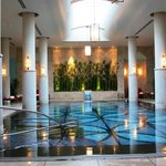 The heated indoor pool