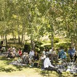 Wedding Guests enjoying the gardens 1