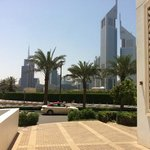 jumeirah towers from the hotel front door