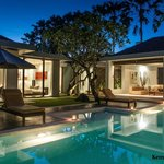 Pool side at 3 bedroom villa