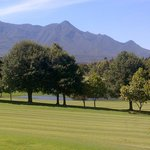 View from the patio of the house in Fancourt we stayed in