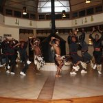Zulu dancers at our Rorkes Drift Hotel