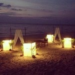  Set up dinner at the Beach